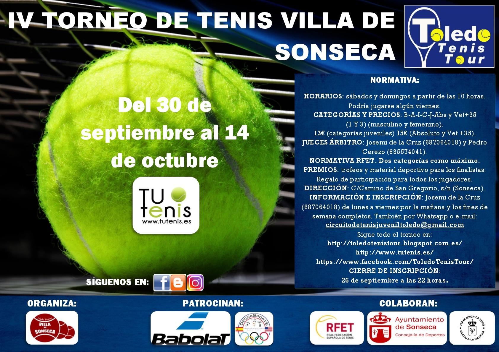 Cartel Torneo Villa de Sonseca 2018-001
