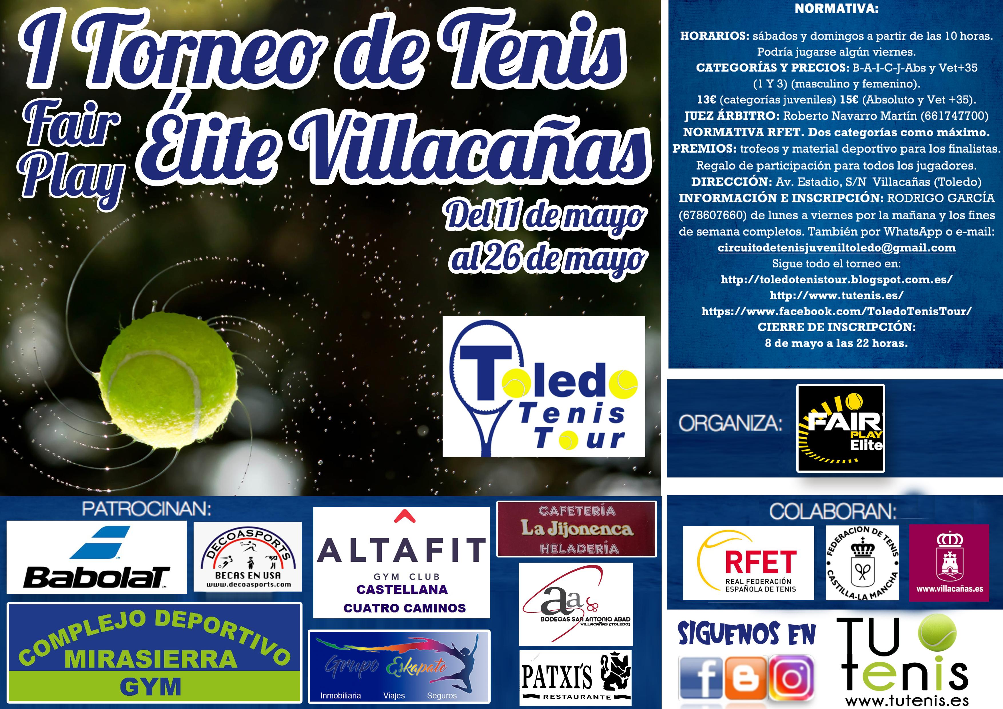 cartel torneo tenis villacañas 2019