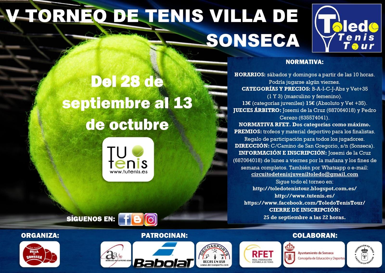 Cartel V Torneo Villa de Sonseca 2019