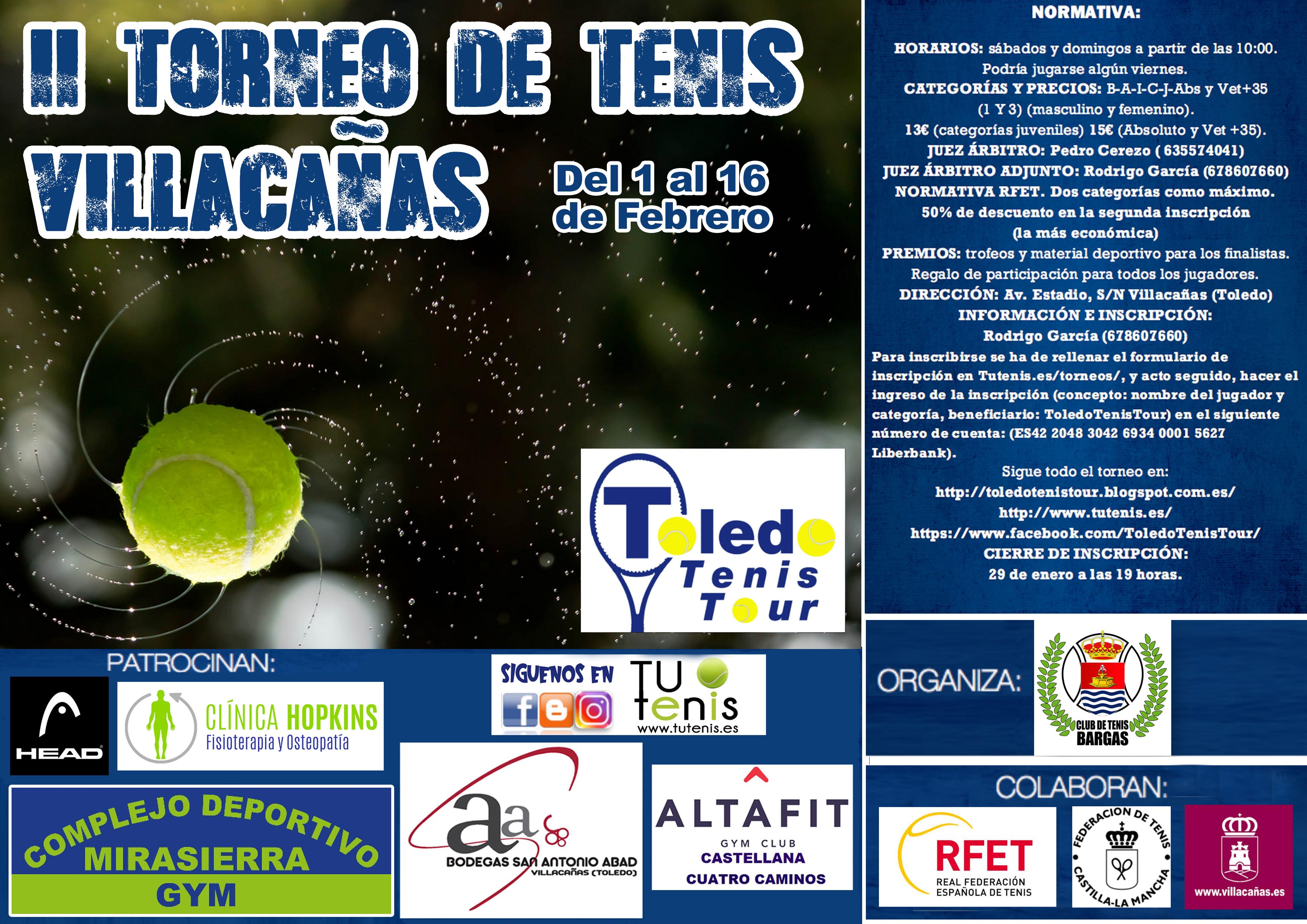 cartel II torneo tenis villacanŞas 2020